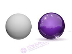 Srebrno bele sfere